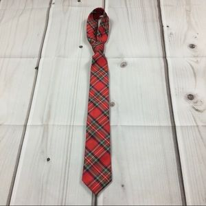 Chaps 100% Polyester Plaid Tie